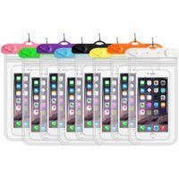 Universal wasserdichte Trockenzell-Nackenbeutel-Taschen für iPhone X XR XS 8 7 Plus Samsung S7 Rand S8 S9 plus verschlossene wasserdichte Hülle Mobiltelefone