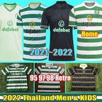 2020 2021 Celtic MCGREGOR GRIFFITHS Camisas de futebol FORREST 20 21 BROWN ROGIC CHRISTIE 95 96 97 98 Camisa de futebol vintage retrô, masculina, infantil