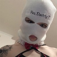 2021 Y Daddy Balaclava Hole Face Cover Ski Mask Wo Winter Knitted Hat