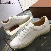 Dress Shoes Men Loafers Flat Round Toe Genuine Leather Leisure Spring Autumn Lace-up Walking Man Comfortable Casual