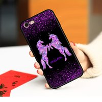 Cases Shimmering Flash powder unicorn horse Couple women Phone case cover for Samsung Galaxy S8 S9 S10 S20 S21 Ultra Note 8 9 10 20 soft tpu shockproof Protector