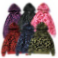 Neueste Liebhaber Camo Shark Print Baumwolle Pullover Hoodies Herren Casual Purple Red Camos Cardigan Mit Kapuze Jacke Größen S-2XL