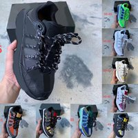 Men Sole Running Shoes Women Mens Shoe Sport Leather black green Lightweight Casual Platform Trainers Chain Sneakes size 35-45 013