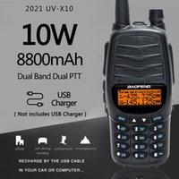 Baofeng UV-X10 10W 8800MAH 2-PDUAL BAND BAND VHF UHF USB зарядное устройство Walkie Talkie 30KM HAM CB 2-WAY радиосматриваемый трансивер UV-5R
