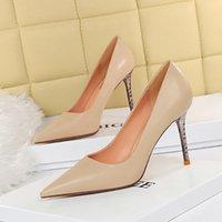 BigTree Simple Elegante High Heels Stiletto Womens Schuhe spitz Schwarze Etikette Professionelle Single Schuhe Hochzeit Schuhe