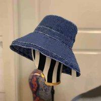 Vente en gros de luxe-Summer Sunbucket Hat Protection Protection de pêche Haute Qualité Pure Couleur Lettres Bob Boonie Bucket Chapeaux d'été Bb95