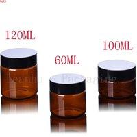 60 ml 100ml 120 ml braune Kunststoffcremeglas, / Maske Verpackung Flasche leerer kosmetischer Container (40 pc / lot) Gute Menge