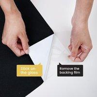 Fensteraufkleber Dktie Abnehmbare 100% Licht blockieren Statisch Total Blackout Film Privacy Room Verdunkelung Töne Schwarzer Aufkleber
