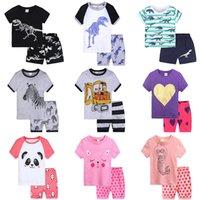 Baby Junge Mädchen Kleidung Set T-Shirt Shorts 2 Stück Sommer Dinosaurier Meerjungfrau Digger Print Käppchen Anzug Verschleiß Outfit Pyjamas Boutique