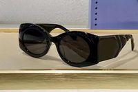 Büyük Siyah Gri Güneş Gözlüğü 0810 Koyu Gri Lens Sonnenbrille Occhiali da Sole Bayanlar Moda Güneş Gözlükleri Kutusu ile Shades