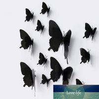 12 шт. 3D наклейка на стене Черная бабочка настенные настенные наклейки DIY съемные PVC обои декоративные росписи для гостиной спальня