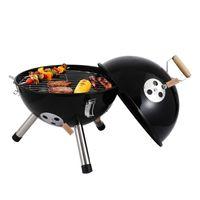 Tragbare kleine Mini sphärische BBQ Grills Holzkohlegrill Camping im Freien kochen Großhandel