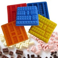 Cake DIY Building Blocks Moulds Tools Silicone Chocolates Mo...