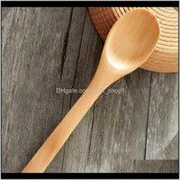 13 cm mini bambú encantador sazonando cuchara cucharas de hielo cubiertos de madera EWD3092 CPHOQ KLBNW