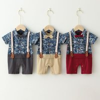 Jumpsuits Baby Boy Romper For Wedding Party Summer Spring Infant Little Gentleman Clothes 0-18M Toddler Born Outfits