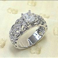 Cao shi gong tingfeng smycken mönster ihålig ut blomma ring kreativ personlighet zircon lady km6t720