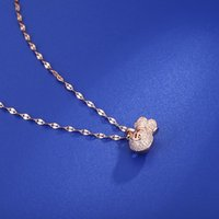 Pendant Necklaces 2021 Hollow Money Bag Clavicle Chain For Women Rose Gold Zircon Wishful Blessing Necklace Jewelry Gift
