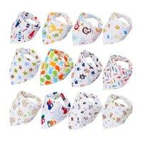 Baby Bibs Saliva Towel Infant Boy Girl Leisure Clothes Cotton Triangle Newborn Turban Bib Scarf Double Snap