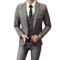 Men's Suits & Blazers Conjunto com 3 peças de colete, blazers, calças, moda masculina, casual, boutique, negócios, casamento, padrinhos jaqueta, P4XP