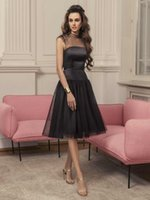 New Style Black Tulle Cocktail Dresses 2022 Sheer High Collar Beading Sexy Backless Women Club Party Wear Knee Length Short Prom Dress