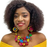 Accessories Wholesale Stylish Wax Print Fabric Ankara 100% Cotton African Necklace