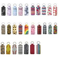 Manufacturers Wholesale Diving Materials Heat Transfer Hand Sanitizer Perfume Bottle Set Key Chain Party Favor Lipstick Protective Cover