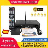 Ostark AS2X Set Top Box UHD DVB-S2 S2X satellite tv receiver USB wifi included Powered