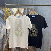 2021 tee marka tasarım gömlek yaz sokak giymek avrupa moda erkekler yüksek kaliteli pamuk tişört rahat kısa kollu U602 S-XXL t-shirt