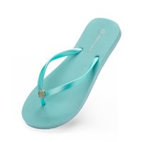 seventy- five Slippers Beach shoes Flip Flops womens green ye...