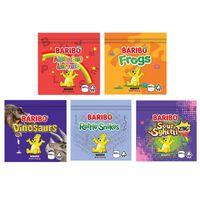 2021 Baribo Gummies Gummies Gummies Sacs d'emballage Grenouilles Sour Sghetti 500mg Zip Pack refermable Emballage de vente au détail Candy Gummy Sac Fleur Dry Sydow Tow