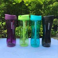 500ml / 17Oz Outdoor Sport Herbalife Wasserflasche Shake Tasse Fit Tritan Radfahren Camp Ernährung Wanderungsgetränk Edelstahl Draht Schneebesen Tragbar