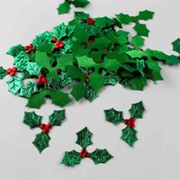 Red Berry with Green Leaves Christmas Tree Decoration Supplies DIY Art Fabric Accessories for Home Party Ornament