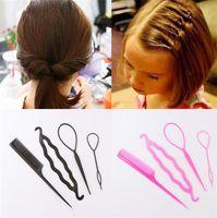 Peigne de cheveux magique Tirant des outils de style Curler Updo Maker Tool Tool Set pour les filles Femmes Headwear Accessoires
