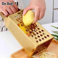 4 Taraf Sarımsak Soyucu Patates Sebze Dilimleme Bıçak Zencefil Kavun Çok Fonksiyonlu Salatalık Dilimleme Paslanmaz Çelik Soyucu Kutusu 210406