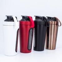 700ml criativo aço inoxidável proteína shaker agitar milkshake copo de mistura esportes ao ar livre fitness shake copo esporte garrafa BPA grátis