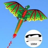 아이 귀여운 3D 공룡 연 어린아 비행 게임 야외 스포츠 장난감 정원 천을 장난감 선물 100m 라인