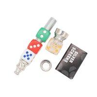 The Dice Design Metal Petits Tuyaux portables Coloré Pratique Détachable Tobacco Mode Mode Mode Tuyant Tuyant Tuyau Tuyau Tuyau Tiny Fumée Accessoires