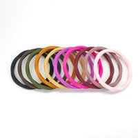 Silicone Bracelet Narrow Wave Band Ring Soft Comfortable Silicone Wristband for Women Ladies Outdoor Sport Fashion Jewelry
