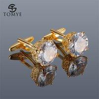Gemelos para hombres Tomye XK20S008 Zircon de lujo de alta calidad Camisa dorada Publicidad 201109