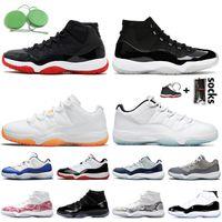 nike air jordan 11 retro 2020 New 11 11s 25th Anniversary Branco Bred SatinJordâniaRetro tênis de basquete Jumpman Concord azul altos homens Bred mulheres Sneakers