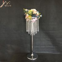 Acrylic Flower Rack Crystal Wedding Table Centerpiece 78 CM Tall 24 Diameter Road Leads Party And Home Decor Vases