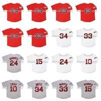 26 2004 레트로 매니 Ramirez Jersey 2007 데이비드 34 Ortiz 15 Dustin Pedroia 33 Jason Varitek 10 코코 파삭 한 빨간색 흰색 회색 빈티지 야구 유니폼