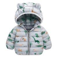 Down Coat ZWF1395 Winter Jacket Boy Girl Child Kid Light Hooded Thin Warm Big Boys Outerwears 3-10 Years