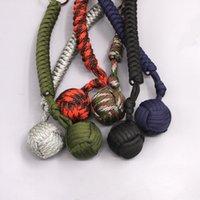 Открытый стальной шарик защита защиты от подшипника самообороны веревка ремешок инструмент цепь ключей многофункциональный брелок 5xLPD Crjig 857 Z2