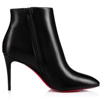 Top Luxury Eloise Red Bottom Boots Women's Ankle Booty Pointed Toe Booties Winter Brands Lady Famous High Heels Wedding Dress Party EU35-43