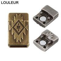 5 stücke Alte Bronze Starke Magnetische Schläcke Flaches Leder Armband Verschluss Anschlüsse Für DIY Schmuck Machen Großhandel