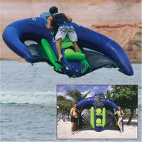 3×2.8m高品質膨脹可能なサーフィンボードフライフィッシュフライフィッシュ飛行マンタレイストリングレイ爆発凧管バナナボート水スポーツゲーム