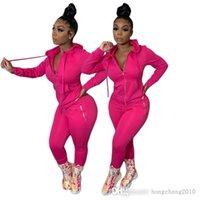 Designer Women Tracksuits Fashion Long Sleeve Zipper Hoodies Jacket & Leggings 2 Piece Set Sports Outfits Fall Winter Jogging Suit