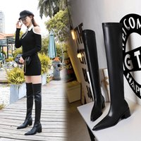 Autumn and winter women Ankle boot tops designer Anjel Brands highs heels Red bottom boots Brand matte Pointed toe Pointeds toes fashion high heel Knee-high boots
