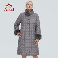 2020 Astrid Winterjacke Frauen mit Pelzkragen Design Lange Dicke Baumwolle Kleidung Mode Gitter Muster Warme Frauen Parka FR-20401